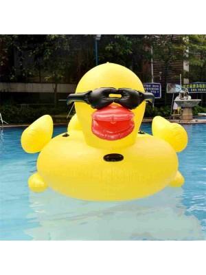 Aufblasbar Schwimmen Ring Spielzeug Gelb Ente Reiten Auf Wasser Zum Erwachsene