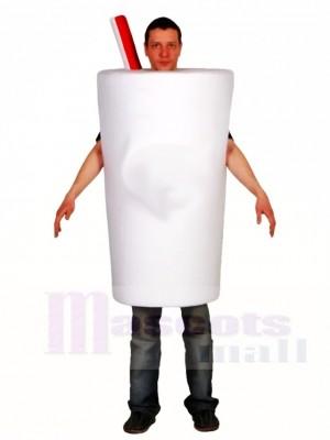 Weiße Flasche Cup Maskottchen Kostüme trinken