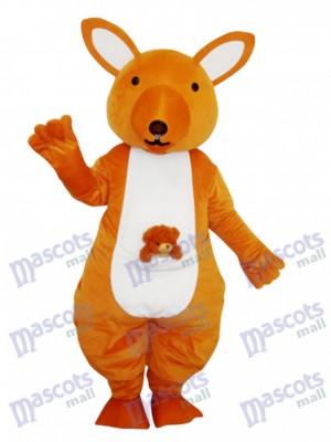 Gelbes Känguru Maskottchen Erwachsenes Kostüm Tier