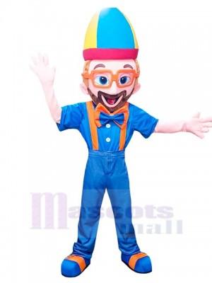Blippi Junge Maskottchen Kostüm Halloween Party Event Charakter Geburtstag Cosplay
