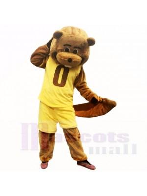 Sport Gelb Passen Biber Maskottchen Kostüme Schule
