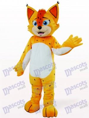 Orange Leopard mit weißem Bauch Maskottchen Kostüm
