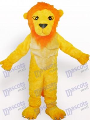 Gelbes Löwe Tier Maskottchen Kostüm