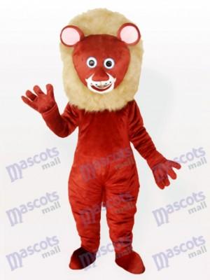 Brauner männlicher Löwe Tier Maskottchen Kostüm