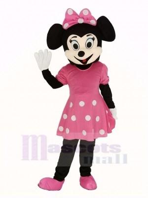 Rosa Minnie Mouse Erwachsene Maskottchen Kostüm