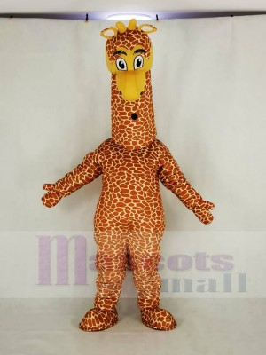 Realistisch Giraffe Maskottchen Kostüm Karikatur