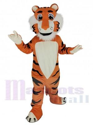 Freundlich Orange Tiger Maskottchen Kostüm Tier