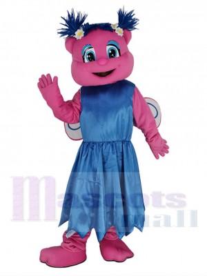 Sesame Street Abby Cadabby im Blaues Kleid Maskottchen Kostüm