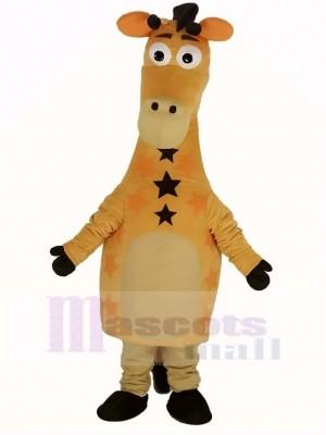 Süß Gelb Giraffe Maskottchen Kostüm