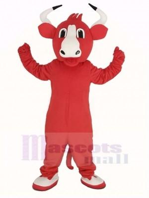 glücklich rot Stier Maskottchen Kostüm