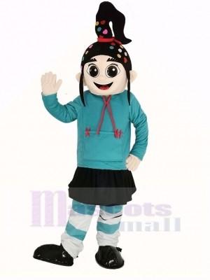 Mädchen Vanellope Maskottchen Kostüm Karikatur