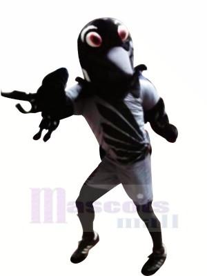 Lustig Schwarz Adler Maskottchen Kostüme Karikatur