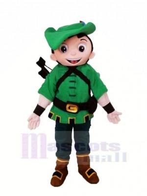 Held Robin Im Grün Maskottchen Kostüm Karikatur