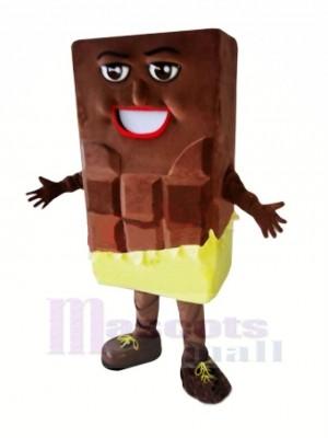 Schokolade Bar Maskottchen Kostüm Karikatur