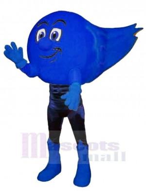 Blau Komet Maskottchen Kostüm Karikatur
