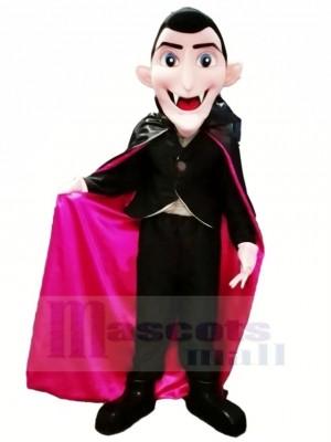 Dracula Vampir mit Blau Augen Maskottchen Kostüm Karikatur