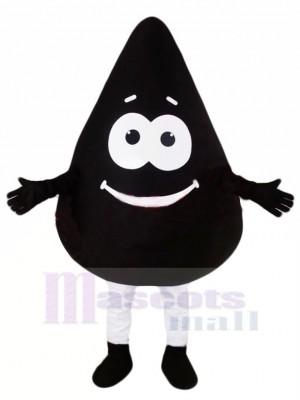 Süß Schwarz Öl Maskottchen Kostüm Karikatur