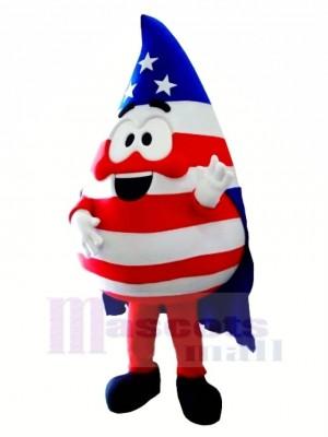 Flagge Blut Fallen Maskottchen Kostüm Karikatur