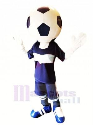 Komisch Fußball Kopf Maskottchen Kostüm Karikatur