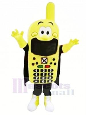 Komisch Gelb Telefon Maskottchen Kostüm Karikatur