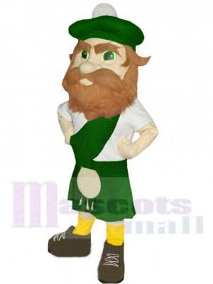 Hochländer mit Grüner Hut Maskottchen Kostüm Menschen