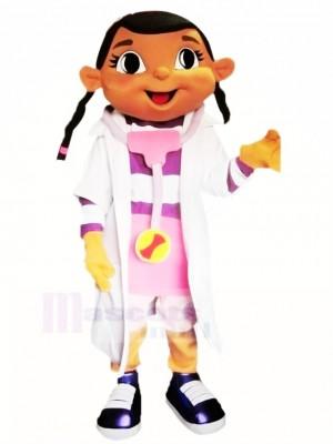 Doc Mcstuffins mit Groß Augen Maskottchen Kostüm Schule