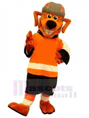 Kraftsport Oranger Hund Maskottchen Kostüm Tier