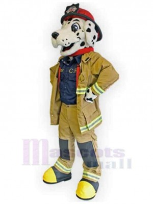 Cooler professioneller Feuerwehrhund Maskottchen Kostüm Tier
