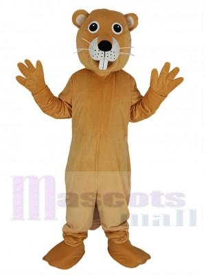 Biber maskottchen kostüm