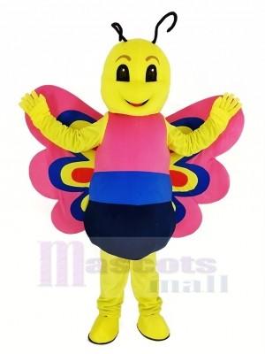 Rosa Leicht Schmetterling Maskottchen Kostüm Tier