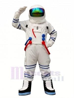 Weiß Astronaut Raumfahrer Maskottchen Kostüm Erwachsene