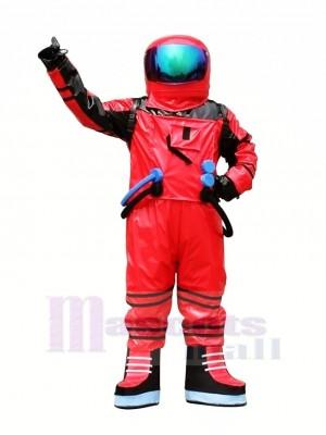 rot Astronaut Raumfahrer Maskottchen Kostüm Erwachsene