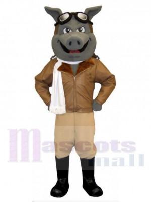 Flieger Schwein maskottchen kostüm