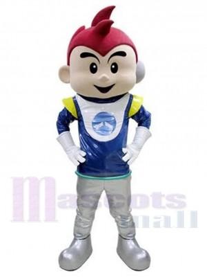 Süßer Astronaut Junge Kosmonaut Maskottchen Kostüm Menschen