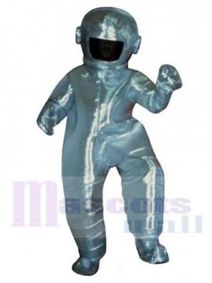 Astronaut Maskottchen Kostüm im silbernen Raumanzug Menschen