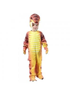 rot T-Rex Dinosaurier Kostüm Dinosaurier Overall Halloween Weihnachten Kleid oben Geschenk zum Kind