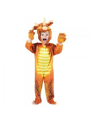 rot Triceratops Dinosaurier Kostüm Dinosaurier Overall Halloween Weihnachten Kleid oben Geschenk zum Kind