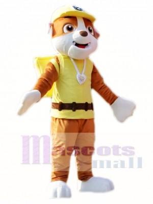 Paw Patrol Rubbel Maskottchen Kostüm Gelb Englisch Bulldog Kostüm