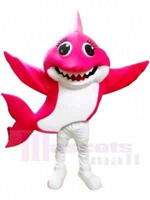PinkFong Rose Mama Baby Hai Maskottchen Kostüme Meer Ozean Karikatur