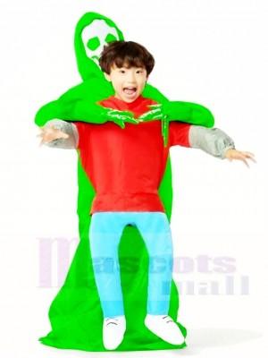 Grün Ausländer Trage mich aufblasbare Monster Halloween Weihnachten Kostüme für Kinder