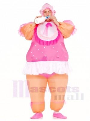 Aufblasbare Erwachsene Kostüme Rosa Baby Doll Party Anzüge