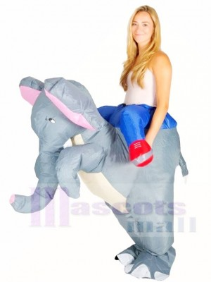 Grauer Elefant tragen mich auf aufblasbare Halloween Weihnachts kostüme für Erwachsene