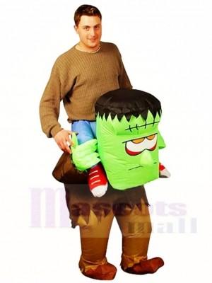 Frankenstein Trage mich auf Monster reiten Aufblasbar Halloween Weihnachten Kostüme für Erwachsene