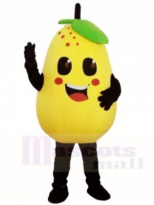 Gelbe Birnen Maskottchen Kostüme Obst