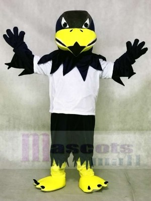 Weißes Hemd Sport Falke Adler Maskottchen Kostüme Tier