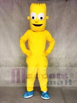 Bart Simpson Sohn Gelber Junge Maskottchen Kostüme Menschen