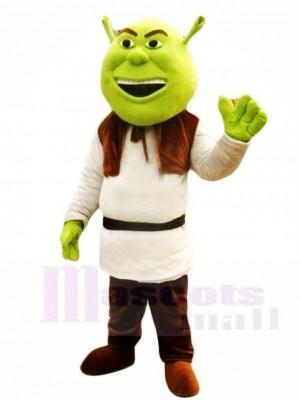 Shrek Grünes Oger Maskottchen Kostüm Märchen