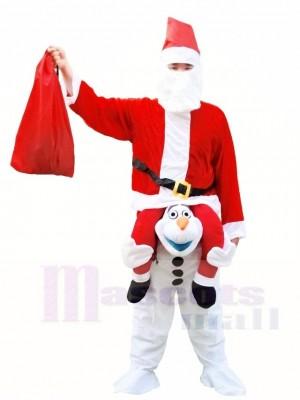 Weihnachtsmann Trage mich mit auf Olaf Halloween Weihnachten Kostüme für Erwachsene