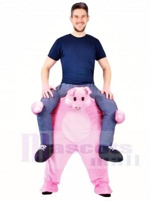Piggy Back Rosa Schwein Carry Me Ride weiter Maskottchen Kostüme Halloween