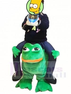 Für Kinder / Kinder Huckepack tragen mich weiter Verrückt Grün Frosch Maskottchen Kostüme